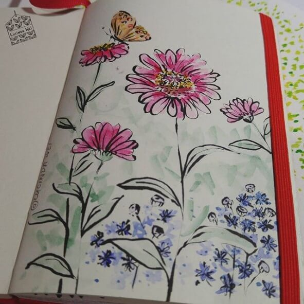 Weekend of Sketching Flowers